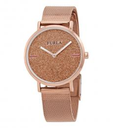 Furla Rose Gold Modish Stately Watch
