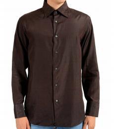 Cherry Black Silk Striped Shirt