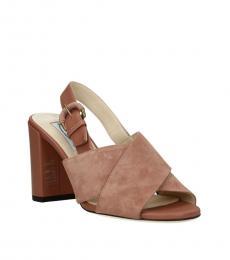 Pink Crisscross Strap Heels