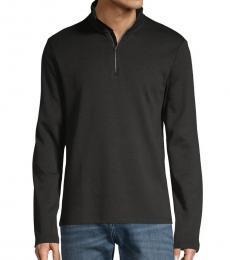 Black Quarter-Zip Sweater