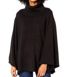 Black Cowl Neck Pullover Sweater