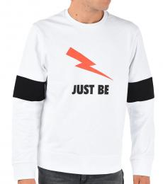 Neil Barrett White Thunder Printed Sweatshirt
