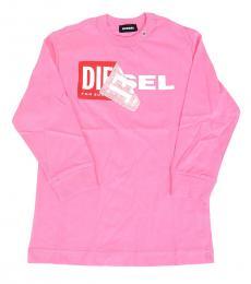 Diesel Little Girls Pink Graphic T-Shirt