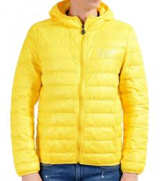 Yellow Full Zip Hooded Light Parka Jacket