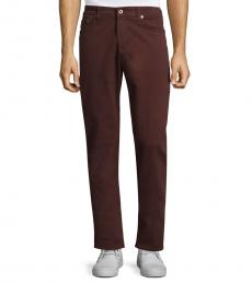 AG Adriano Goldschmied Deep Mahogany Graduate Slim Straight-Fit Jeans