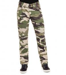 True Religion Green Taupe Skinny Camo Jeanss