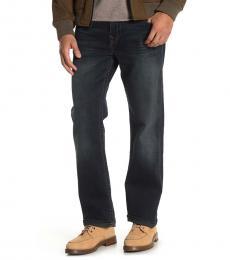 True Religion Navy Blue Ricky Straight Leg Jeans