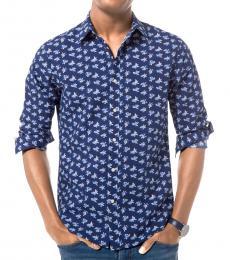 Midnight Slim-Fit Floral Seersucker Shirt