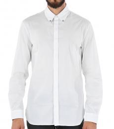White Stretch Cotton Shirt
