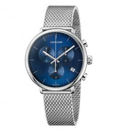 Silver High Noon Chronograph Watch