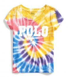 Ralph Lauren Little Girls Tie Dye Jersey T-Shirt