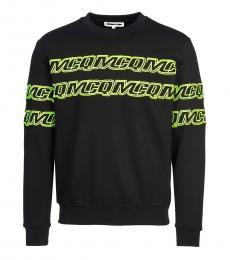 Black allover logo sweatshirt