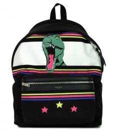 Black Dino Large Backpack
