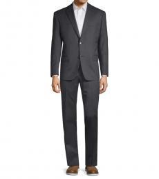 Charcoal Classic-Fit Notch Lapel Suit
