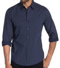 Michael Kors Midnight Riley Dot Print Slim Fit Shirt