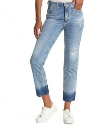 AG Adriano Goldschmied Blue Phoebe High Rise Straight Jeans