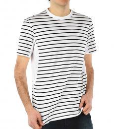 Neil Barrett White Striped Crewneck T-Shirt