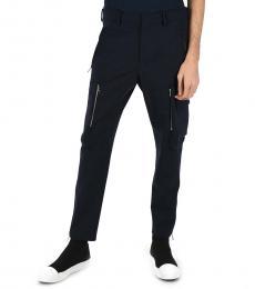 Navy Blue Skinny Fit Cargo Pants