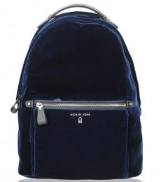 Michael Kors Blue Kelsey Large Backpack