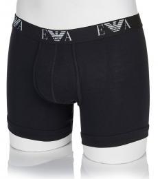 Emporio Armani Black 2 Pack Cotton Logo Briefs