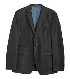 Vince Camuto Dark Grey Notch Lapel Slim Fit Jacket