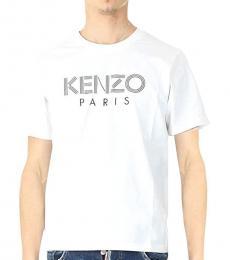 Kenzo White Logo Cotton T-Shirt