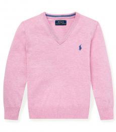Little Boys Hampton Pink V-Neck Sweater