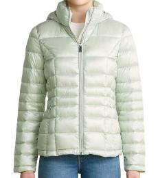 Calvin Klein Shine Mint Hooded Packable Jacket