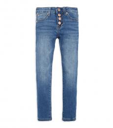 7 For All Mankind Girls Blue Skinny Ankle Jeans
