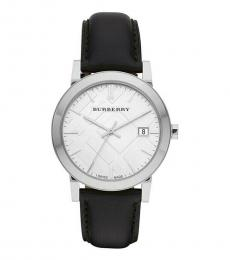 Burberry Black Silver Dial Watch