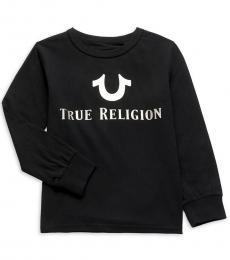 True Religion Little Boys Black Long Sleeve T-Shirt