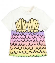 Stella McCartney Baby Girls Ivory Mermaid T-Shirt
