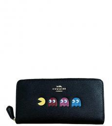 Coach Black Pac-Man Accordion Wallet