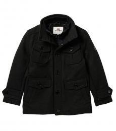 Ben Sherman Boys Black Layered Coat