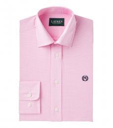 Ralph Lauren Boys Pink Striped Dress Shirt