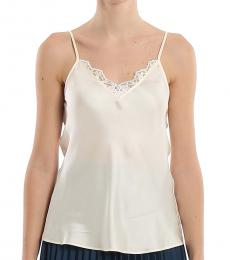Tory Burch White Lace Detail Top