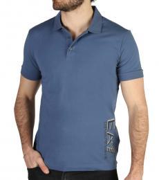 Emporio Armani Blue Front Logo Polo