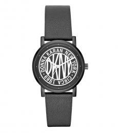 DKNY Black Soho Logo Watch