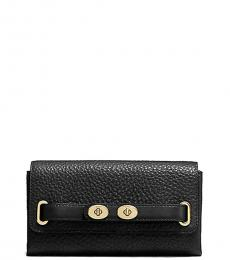 Coach Black Flap Wallet