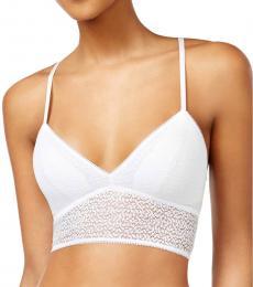 DKNY Poplin White Modern Lace Bralette