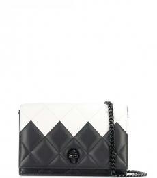 Alexander McQueen BlackWhite Quilted Mini Shoulder Bag
