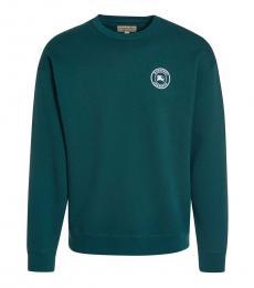 Burberry Teal Logo Crewneck Sweater