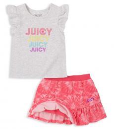 Juicy Couture 2 Piece Top/Skorts Set (Baby Girls)