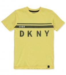 DKNY Little Boys Yellow Logo Graphic T-Shirt