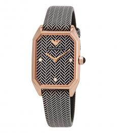 Emporio Armani Black-White Crystal Watch