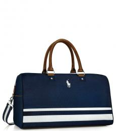 Ralph Lauren Overnight Blue Weekender Large Duffle Bag
