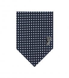 Versace Navy Gingham Tie