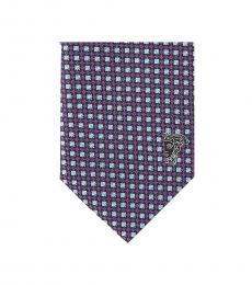 Versace Violet Printed Tie
