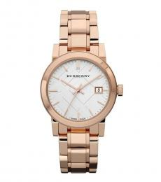 Burberry Rose Gold Heritage Watch