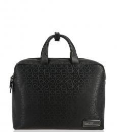 Calvin Klein Black Signature Large Briefcase Bag